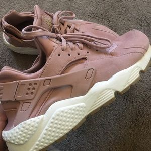 Pink Suede Huaraches